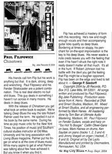 Review for Chinatown a CD by Paul Filipowicz Blues Guitarist, Singer, Songwriter, Harmonica